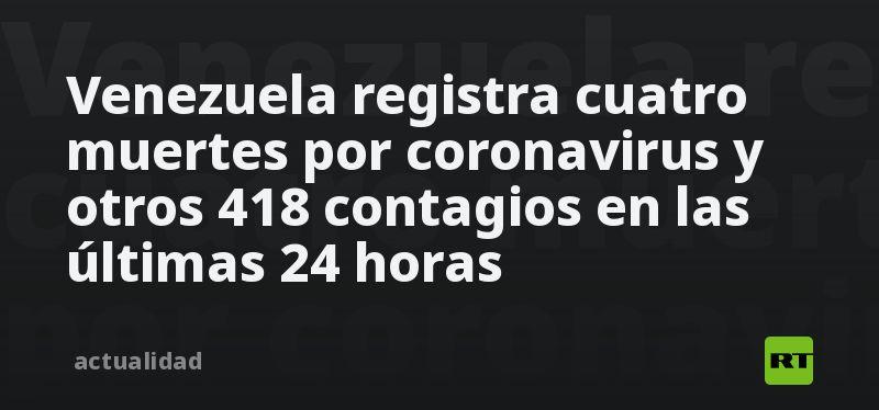 Venezuela registra cuatro muertes por coronavirus y otros 418 contagios en las últimas 24 horas thumbnail