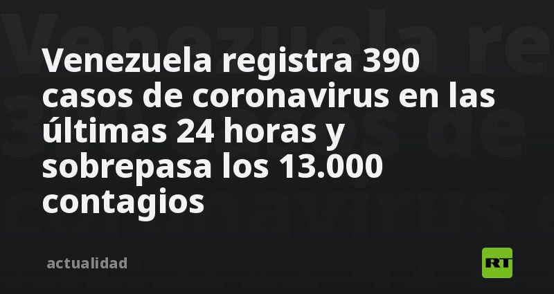 Venezuela registra 390 casos de coronavirus en las últimas 24 horas y sobrepasa los 13.000 contagios thumbnail