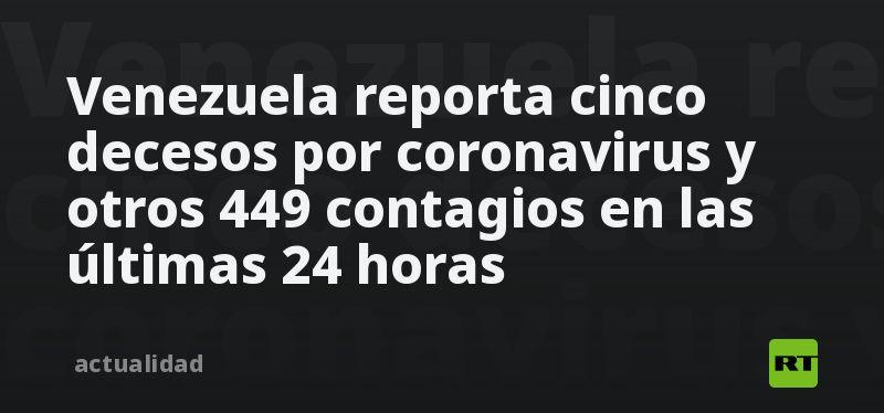 Venezuela reporta cinco decesos por coronavirus y otros 449 contagios en las últimas 24 horas thumbnail