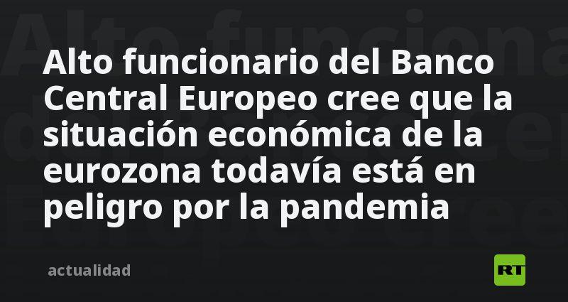 Alto funcionario del Banco Central Europeo cree que la situación económica de la eurozona todavía está en peligro por la pandemia thumbnail