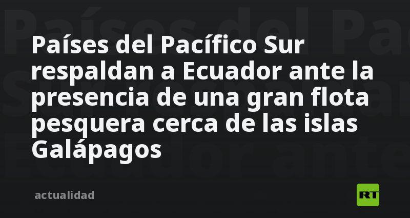 Países del Pacífico Sur respaldan a Ecuador ante la presencia de una gran flota pesquera cerca de las islas Galápagos thumbnail