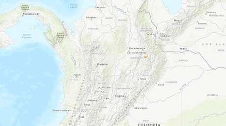Un sismo de magnitud 5,5 se registra en el centro de Colombia