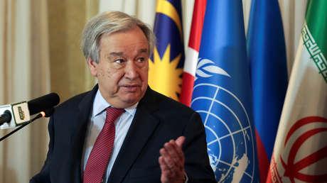 """El secretario general de la ONU asegura que la pandemia de covid-19  """"ha puesto de rodillas"""" al mundo"""