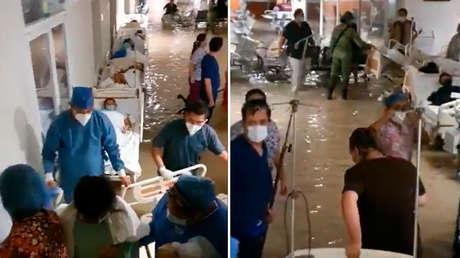 VIDEO: Un hospital infantil en el noreste de México se inunda por las fuertes lluvias provocadas por Hanna