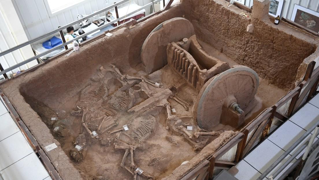 FOTOS: Restauran en China un carro de guerra de 3.000 años de antigüedad
