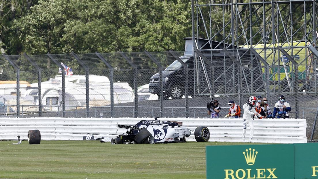 VIDEO: Momento en el que un piloto de Fórmula 1 estrella su bólido durante el Gran Premio de Gran Bretaña