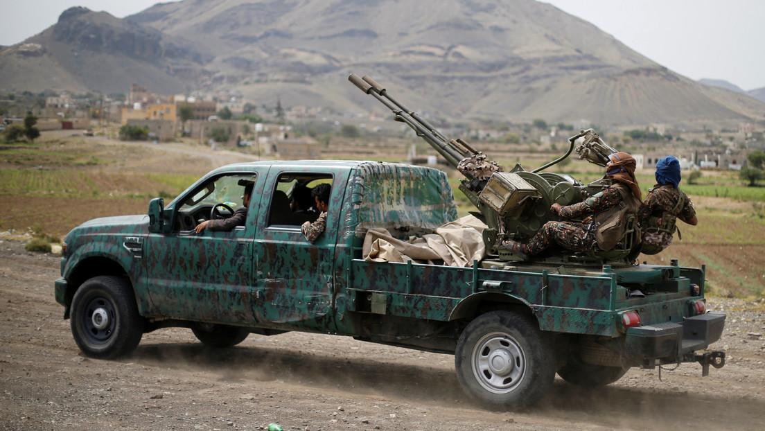 VIDEO: Los hutíes de Yemen aseguran haber derribado un dron de reconocimiento cerca de la frontera con Arabia Saudita