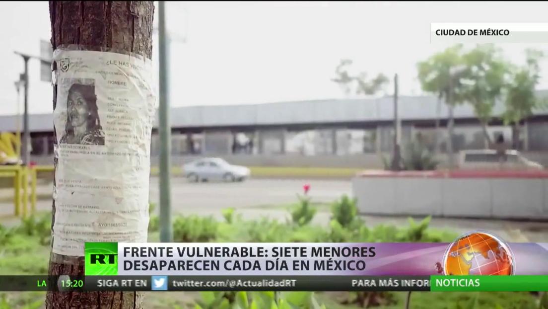 Frente vulnerable: 7 menores desaparecen cada día en México
