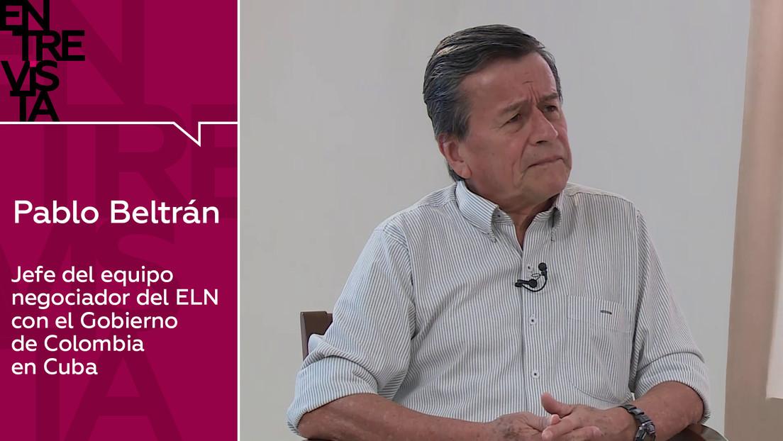 """Pablo Beltrán, jefe del equipo negociador del ELN: """"Colombia es una narcodemocracia al servicio de EE.UU."""""""
