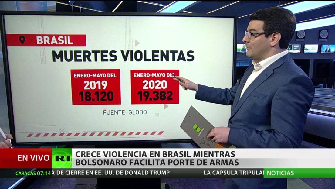 Crece la violencia en Brasil mientras Bolsonaro facilita el porte de armas