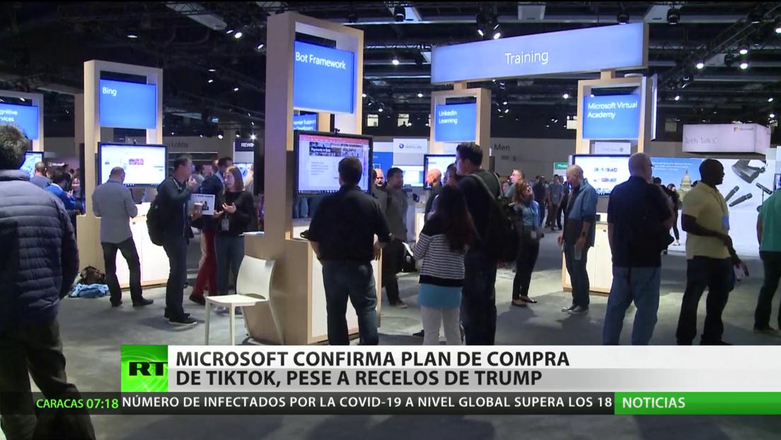 Microsoft confirma su plan de comprar TikTok, pese a las amenazas de Trump de restringir la plataforma