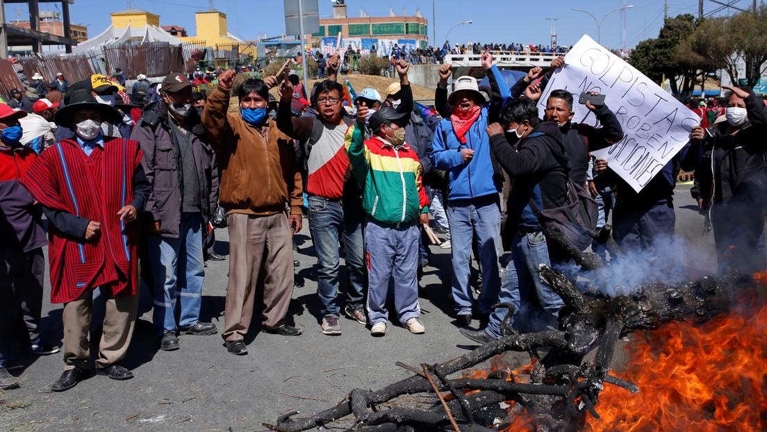 Huelga general y protestas en Bolivia en rechazo a un nuevo aplazamiento de las presidenciales