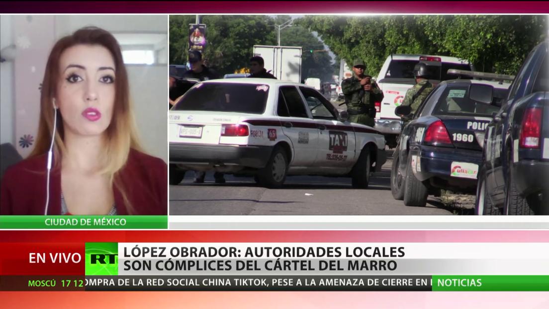 López Obrador acusa a las autoridades locales de ser cómplices del cártel de 'El Marro'
