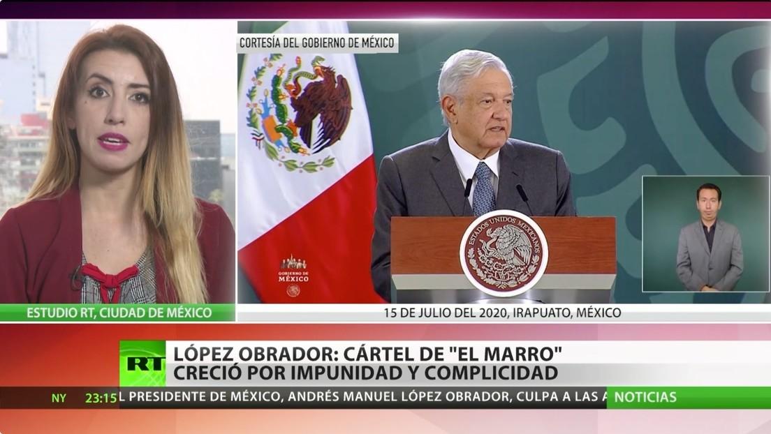 López Obrador: El cártel de 'El Marro' creció por la impunidad y la complicidad de las autoridades