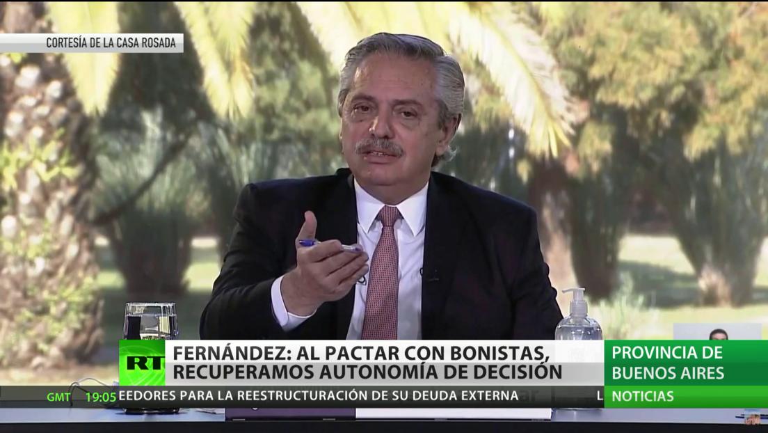 Alberto Fernández: Al pactar con bonistas, recuperamos autonomía de decisión