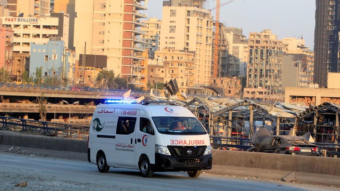 Ministro de Salud libanés: Hay más personas desaparecidas que muertas en las explosiones de Beirut
