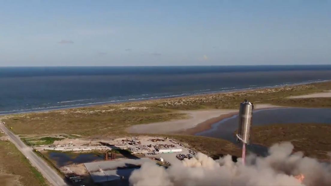 """Marte parece real"""": despega con éxito el prototipo de la nave espacial  Starship SN5 de SpaceX en un vuelo de prueba (VIDEO) - RT"""