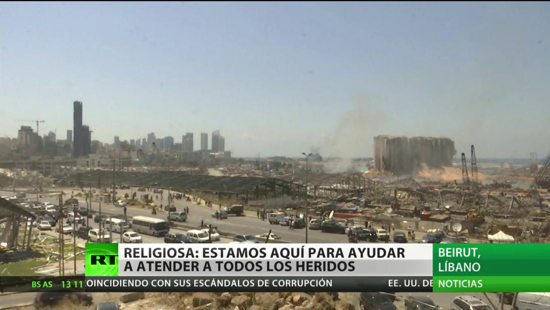 Religiosa en Beirut: Estamos aquí para ayudar y atender a todos los heridos