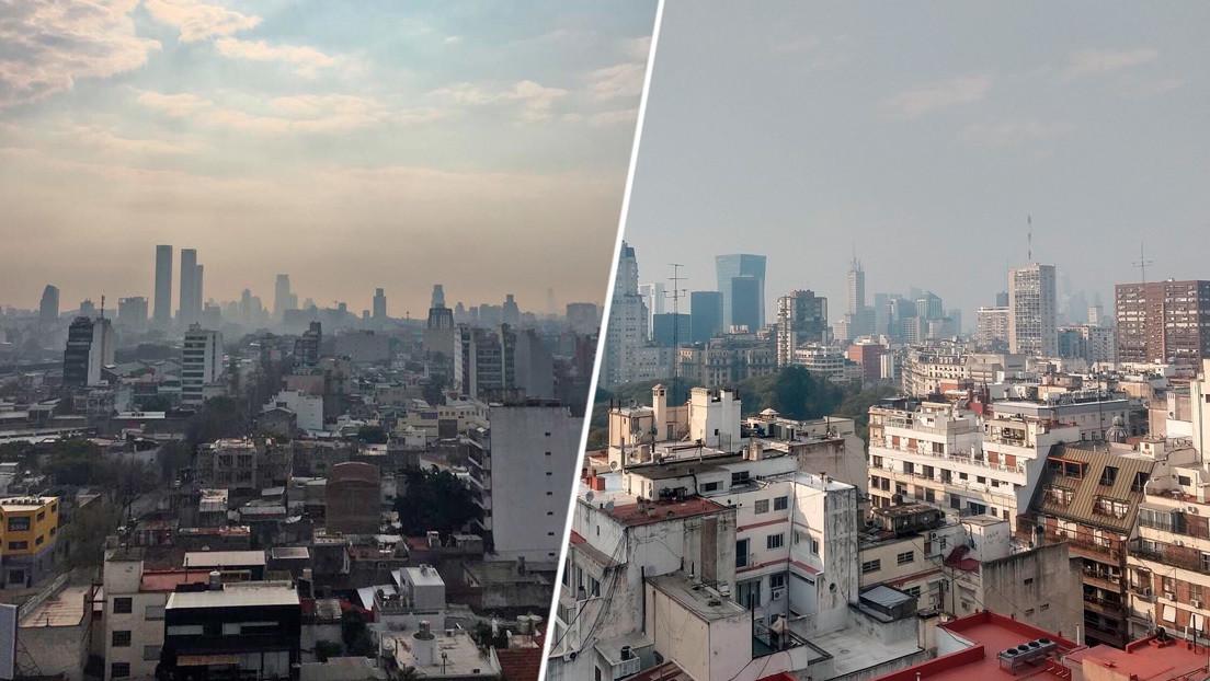 """Buenos Aires amanece cubierta de humo por los incendios en humedales del Paraná: """"Parece un mensaje de la naturaleza"""""""