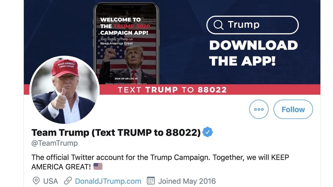 Twitter prohíbe a Trump hacer publicaciones hasta que elimine el tuit con desinformación sobre el covid-19