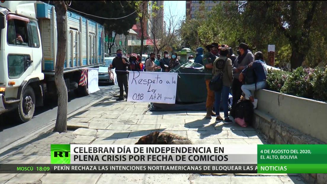 Bolivia: Celebran el Día de la Independencia en plena crisis por la fecha de los comicios