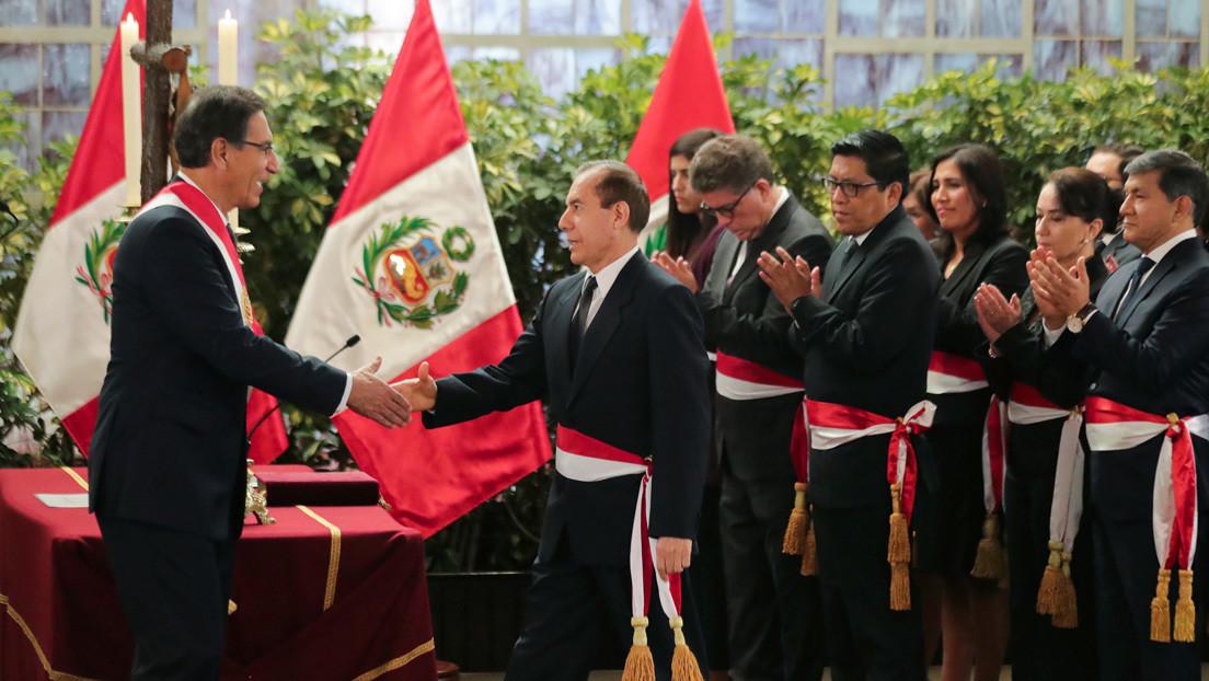 El general retirado Walter Martos jura como nuevo primer ministro de Perú thumbnail