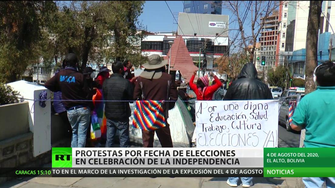 Bolivia: Protestas en el 195.º aniversario de la independencia por el aplazamiento de las elecciones generales