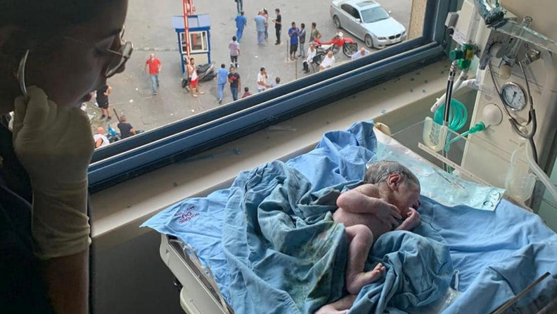 VIDEO: Una mujer da a luz cuando su hospital es sacudido por la explosión en Beirut