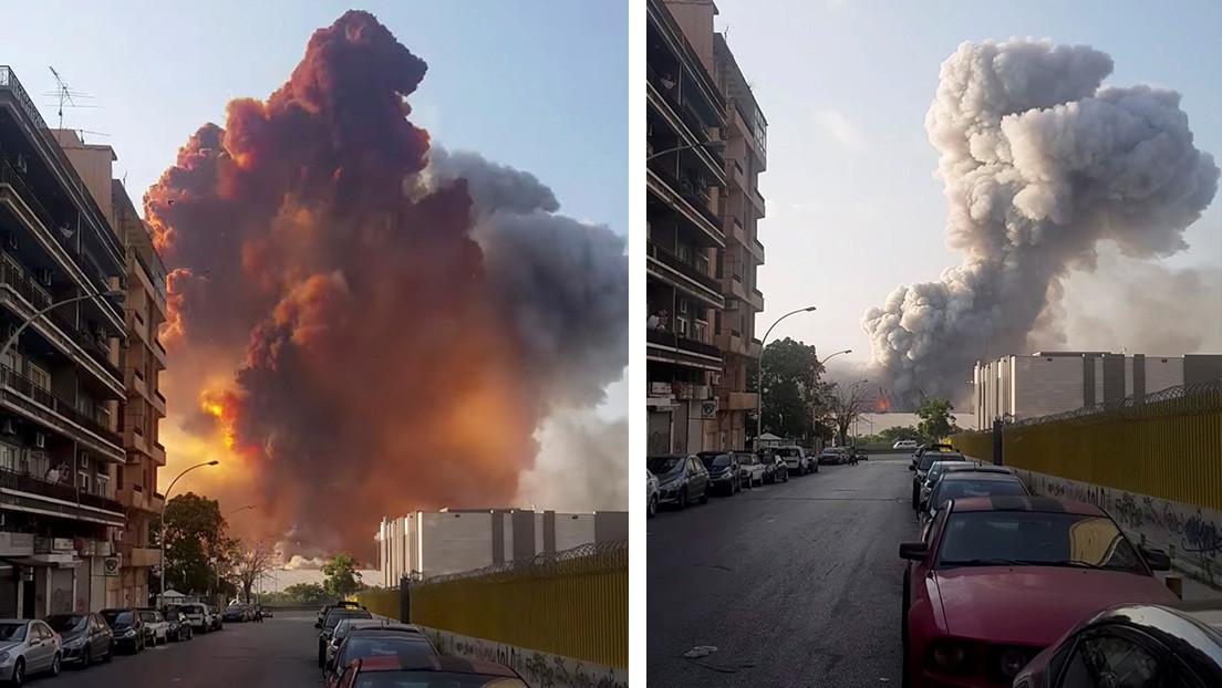 Presidente del Líbano: La causa de la explosión aún se desconoce, no se descarta la participación de fuerzas externas, un misil o una bomba