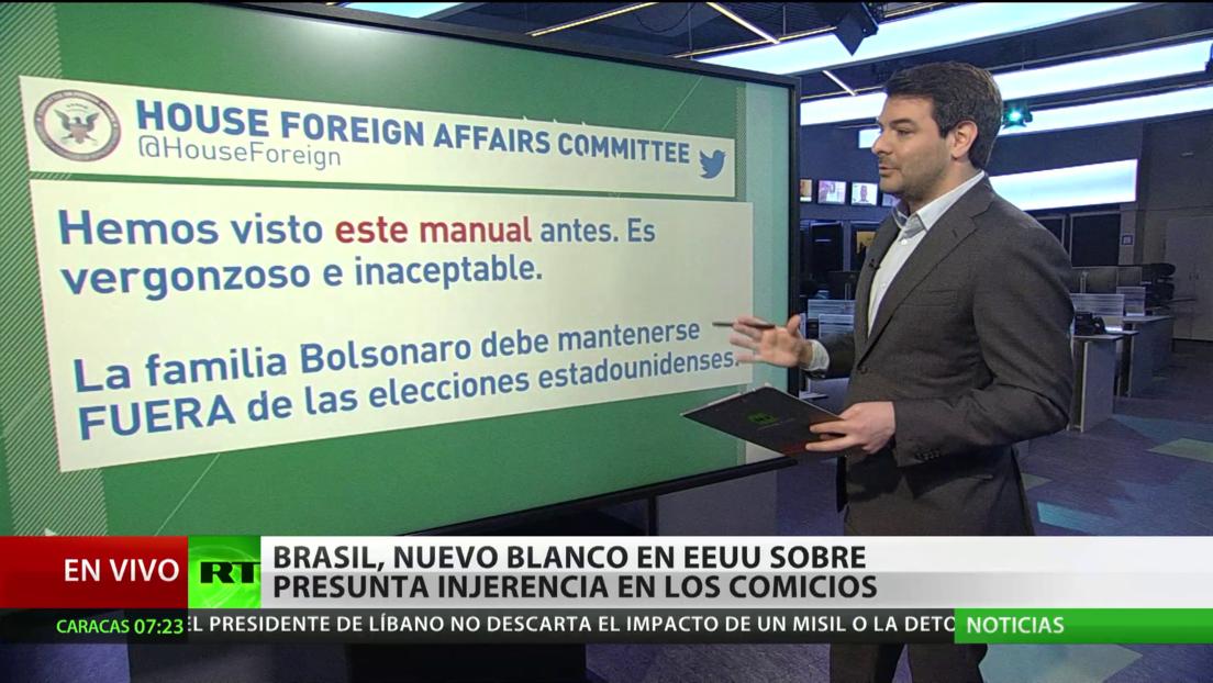 Brasil se convierte en el nuevo blanco sobre presunta injerencia en los comicios en EE.UU.