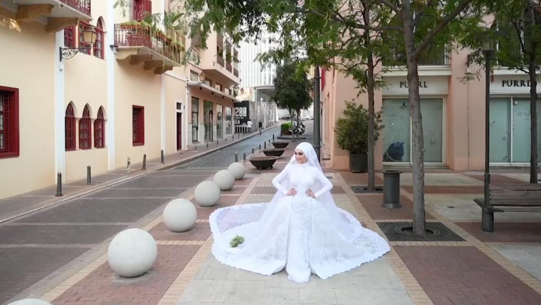 VIDEO: La explosión en Beirut interrumpe la sesión fotográfica de una novia