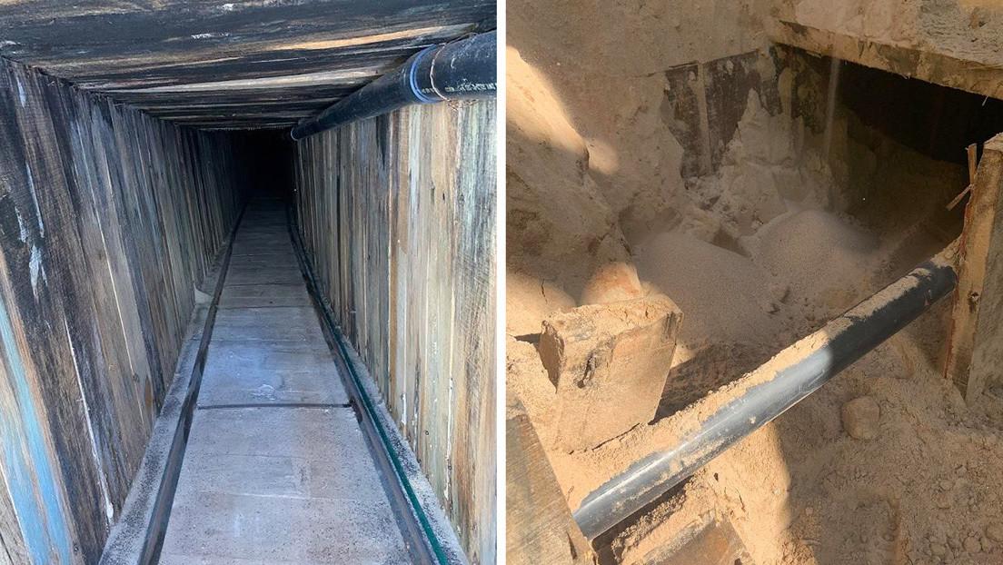 Descubren en EE.UU. un sofisticado túnel transfronterizo para contrabando con sistema de ventilación y cableado eléctrico