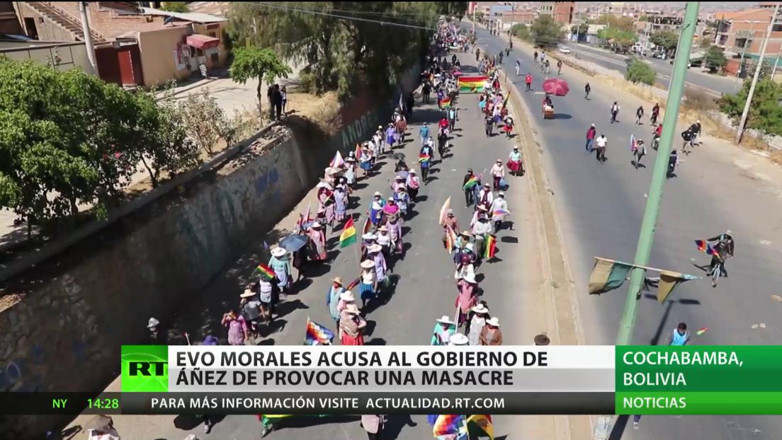 """Evo Morales advierte que una decisión del Gobierno de Áñez podría provocar una """"masacre"""""""