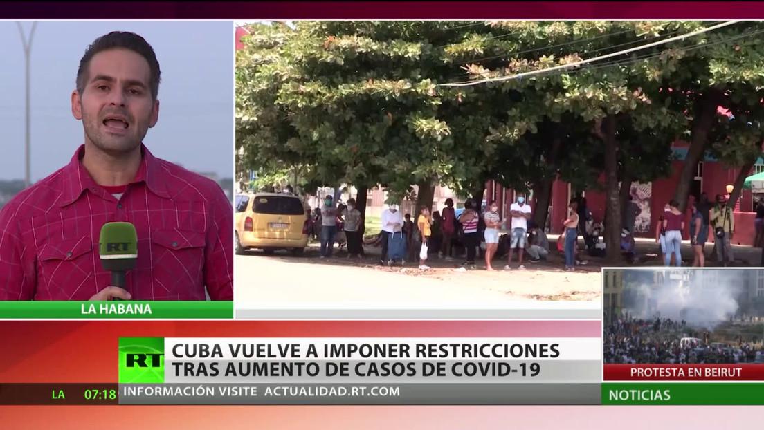 Cuba vuelve a imponer restricciones tras el aumento de casos de covid-19