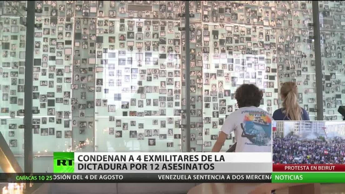 Condenan a 4 exmilitares por 12 asesinatos durante la dictadura de Pinochet