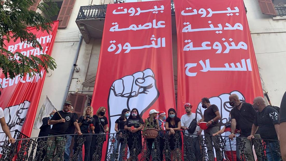 VIDEOS: Manifestantes toman varios ministerios durante las protestas en Beirut