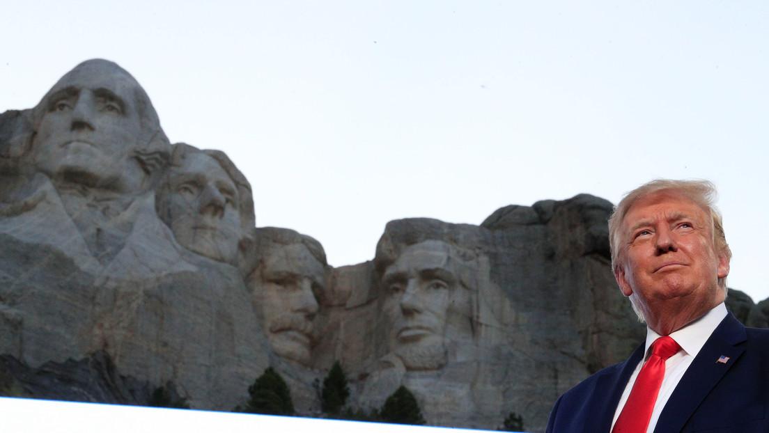 Trump comenta los reportes sobre su supuesto deseo de agregar su rostro al famoso Monte Rushmore