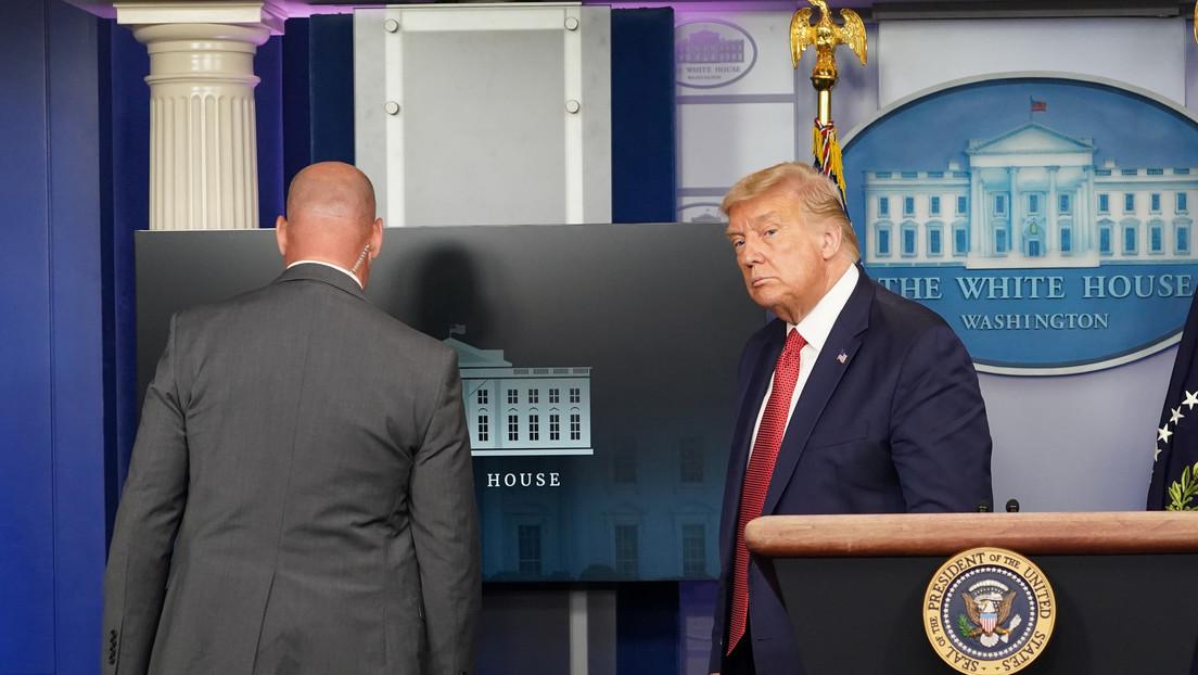 Evacúan a Trump de una rueda de prensa por un tiroteo en las inmediaciones de la Casa Blanca