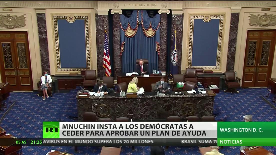 Mnuchin insta a los demócratas a ceder para aprobar un plan de ayudas por desempleo