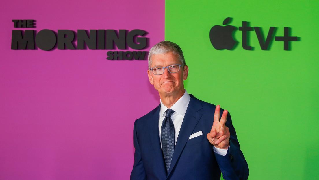 Tim Cook se convierte en multimillonario, mientras Apple consigue un valor histórico