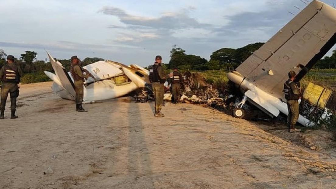 Venezuela inmoviliza aeronave que sobrevolaba ilegalmente su espacio aéreo y pretendía aterrizar en una pista clandestina en la frontera con Colombia