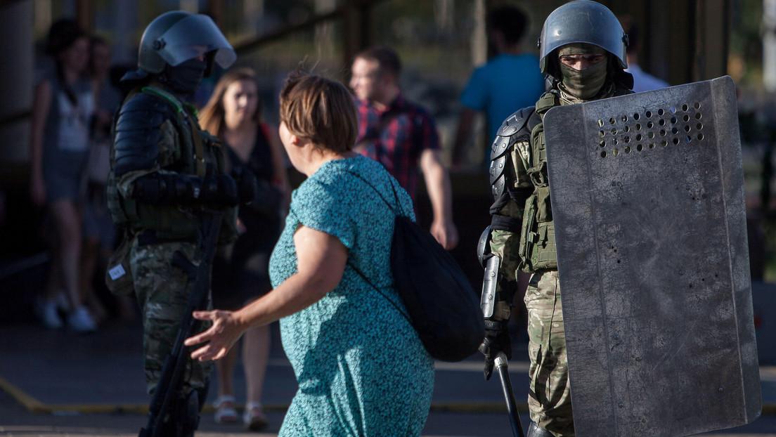 Por cuarta jornada consecutiva continúan las protestas en Minsk contra el resultado de las elecciones presidenciales