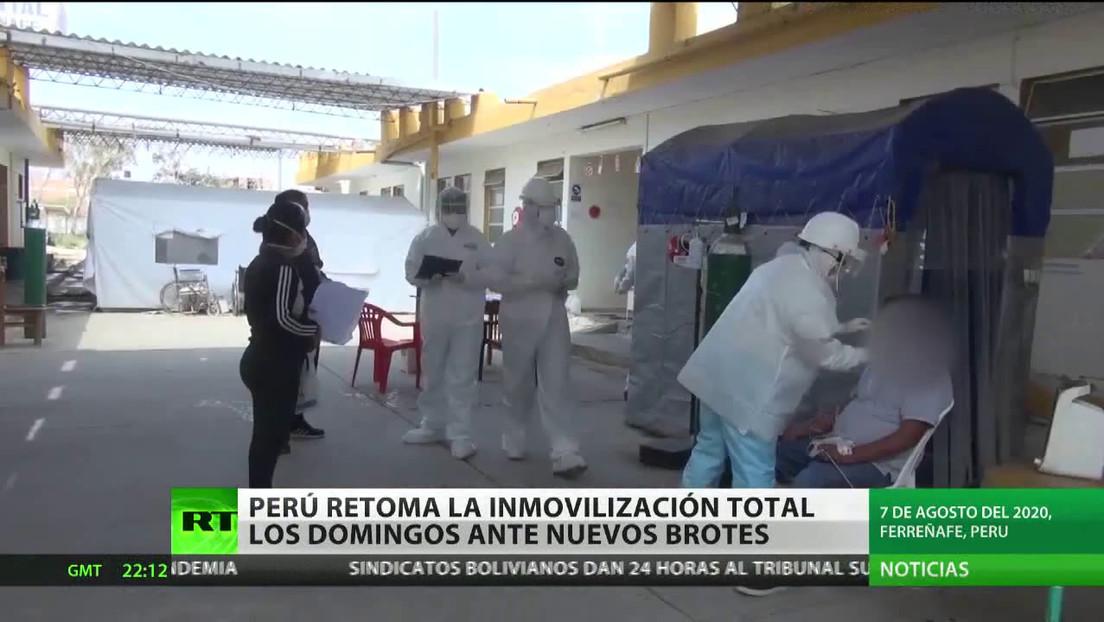 Perú retoma la inmovilización total los domingos ante nuevos brotes de covid-19