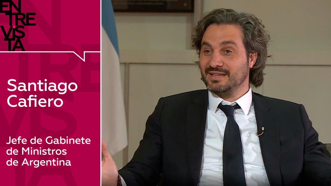 """Santiago Cafiero, jefe de Gabinete de Ministros de Argentina """"Nuestro sistema de salud puede soportar la lucha contra la pandemia"""""""