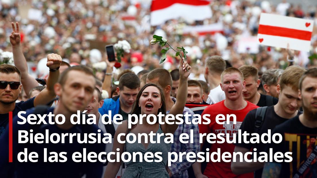 VIDEO: Miles de manifestantes llegan a la sede del Gobierno de Bielorrusia en Minsk