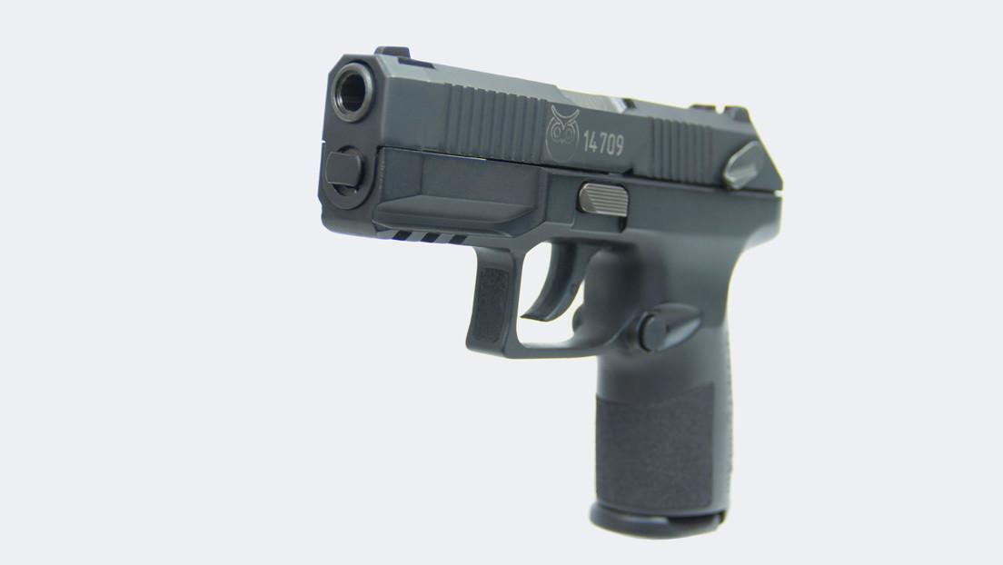 VIDEO: Rusia presenta la pistola semiautomática Poloz, diseñada específicamente para la Policía