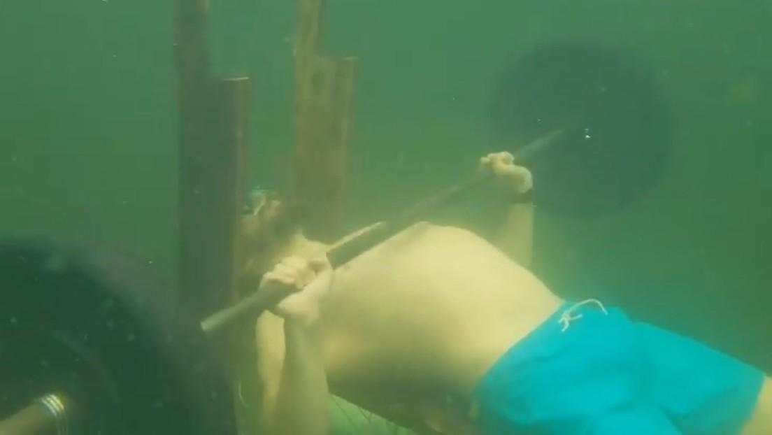 New Guinness Underwater Bench Press Record