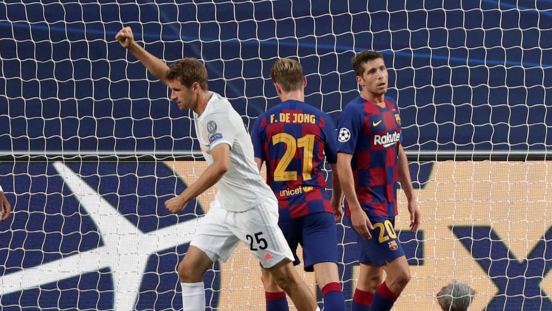 El Bayern de Múnich aplasta 8 a 2 al F.C. Barcelona y se mete a la semifinal de la Champions