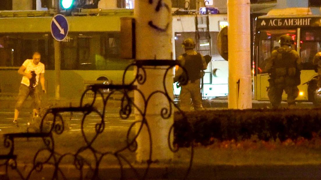 VIDEO: Muestran el momento de la muerte de un manifestante durante las protestas en Minsk