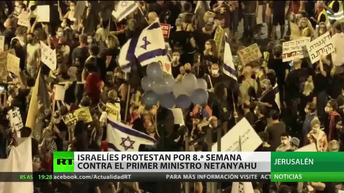 Octava semana de protestas contra Benjamín Netanyahu en Israel
